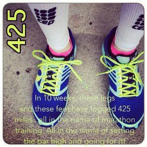 Krista Miner Sidwell logged 425 miles running during 10 weeks of preparation for the Utah Valley Marathon.