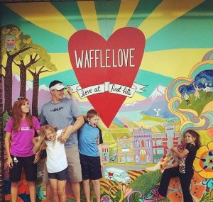 Waffle Love with the family the day after the race.