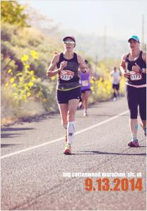 Natalie Brown and Krista Miner Sidwell at the 2014 Big Cottonwood Marathon, Salt Lake City, Utah