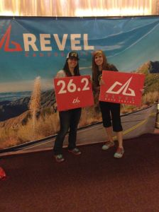 Natalie Brown and Krista Sidwell at the 2014 Canyon City Marathon Expo.