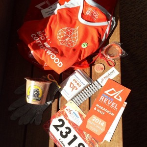 2014 Big Cottonwood Race Bag Contents