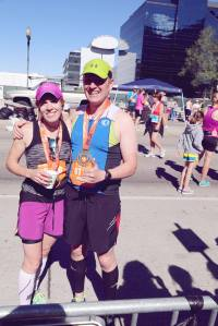 Clint Brown and Krista Miner Sidwell after completing the Utah Valley Marathon and Qualifying for Boston