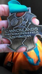 Moab Canyonlands Half Marathon 2014 Medal