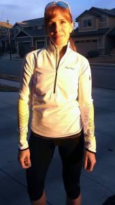 Krista Miner Sidwell sporting her new Pearl Izumi kit.