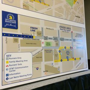 Map of the 2015 Boston Marathon Finish Line Area
