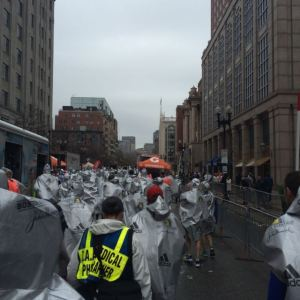 2015 Boston Marathon Finish Line: Zombie Apocolypse