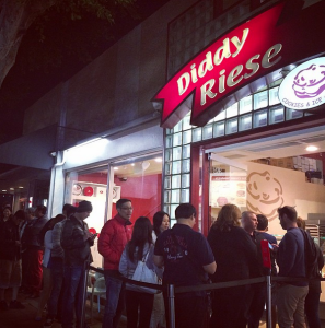 Diddy Riese stop for some well-earned cookies in LA.