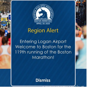 Welcome to the Boston Marathon from the Boston Marathon Phone App