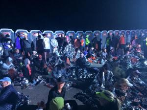 The Scene on Guardsman Pass at the Big Cottonwood Marathon.
