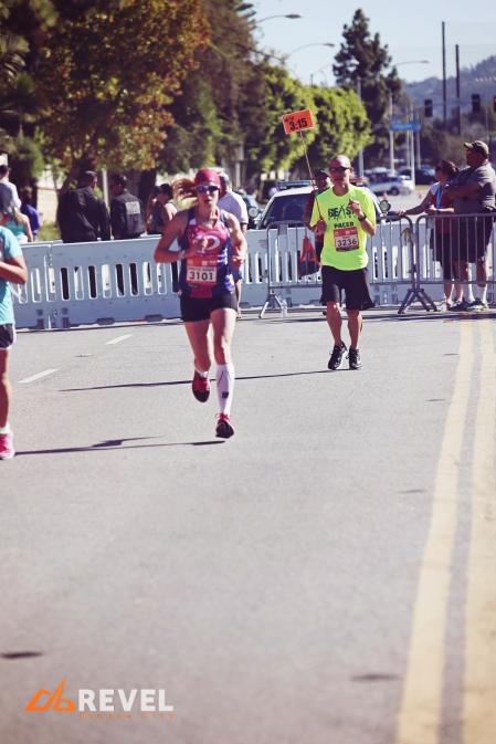 2015 REVEL Canyon City Marathon photo of me approaching the finish line.