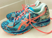 NYC Marathon Custom Shoes