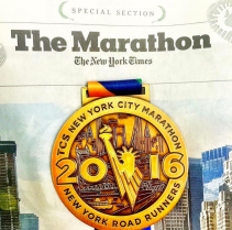 The NY Times lists the names and finishing times for all marathon finishers. I got a copy at the Marathon Pavillon after the race!