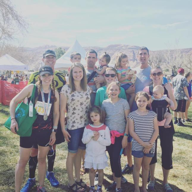 Family at Canyonlands Half Marathon Finish Line