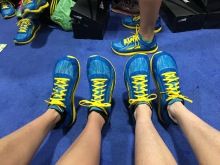 Specialty Boston Marathon Altras sold to us by the inventor/founder, Golden Harper