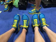 Specialty Boston Marathon Altras sold to us by the inventor/founder, Golden Harper