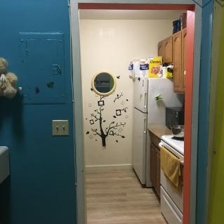 Kitchen view of studio