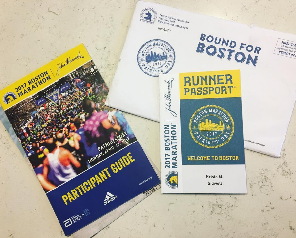 2017 Boston Marathon Runner's Passport
