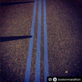 The lines you see with one mile to go